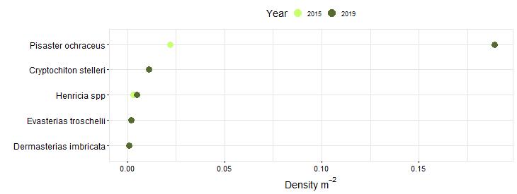 Otter Rock Biodiversity Swath graph
