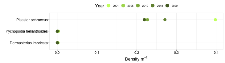 Sea Ranch Biodiversity Swath graph
